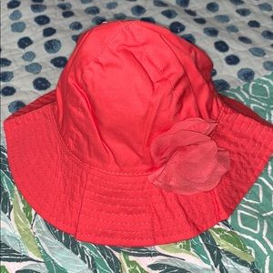 Carter's Coral Hat with Flower